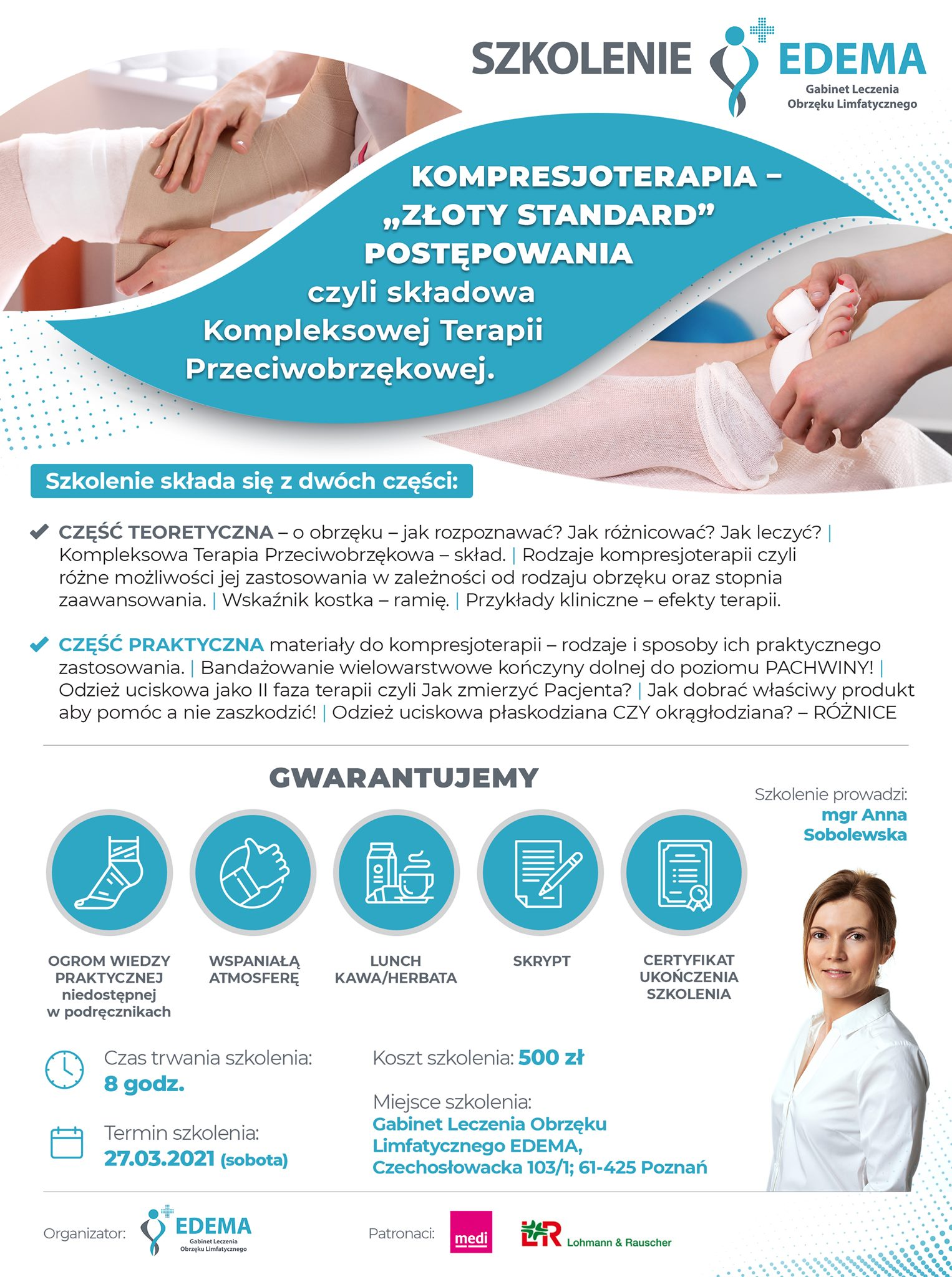 Szkolenie Z Kompresjoterapii Dla Fzjoterapeutów, Pielęgniarek I Lekarzy!